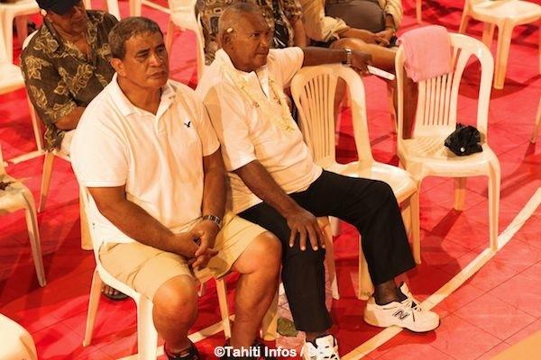 Maco avec Henri Tetuanui ancien président de la fédération de boxe