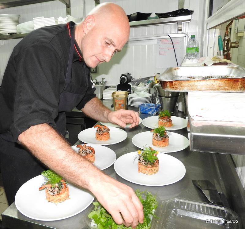 Patrick Mariot est le nouveau chef du restaurant Vaitohi depuis dix mois.
