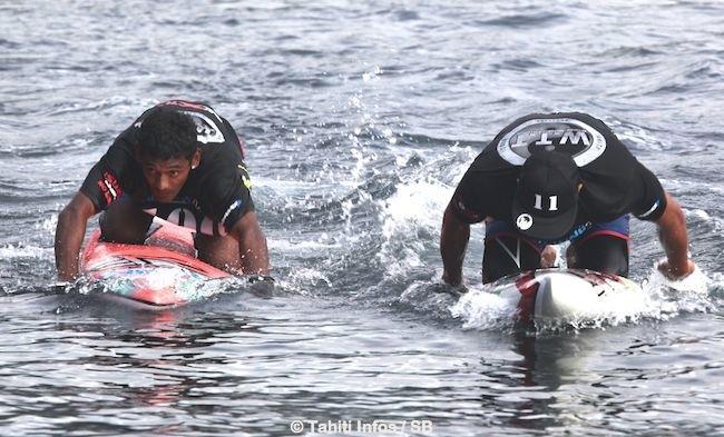 Niuhiti dimanche lors du Waterman Tahiti Tour à la pointe Vénus