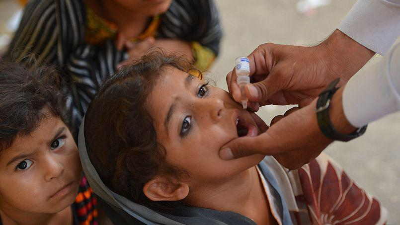 Vaccination anti-polio au Pakistan.