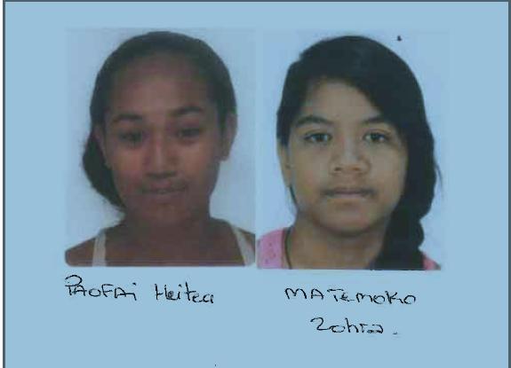 Deux jeunes filles disparues à Paea recherchées par la gendarmerie