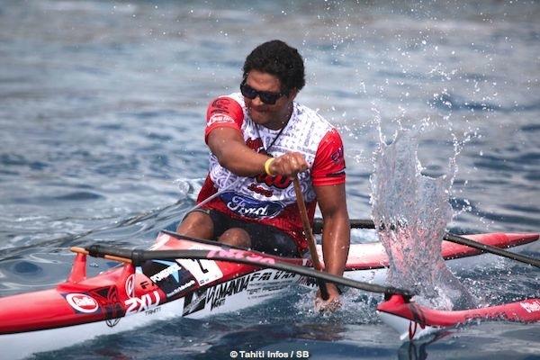 Kévin Céran-Jérusalemy de Shell Va'a remporte le titre suprême pour un rameur : Le Super Aito.