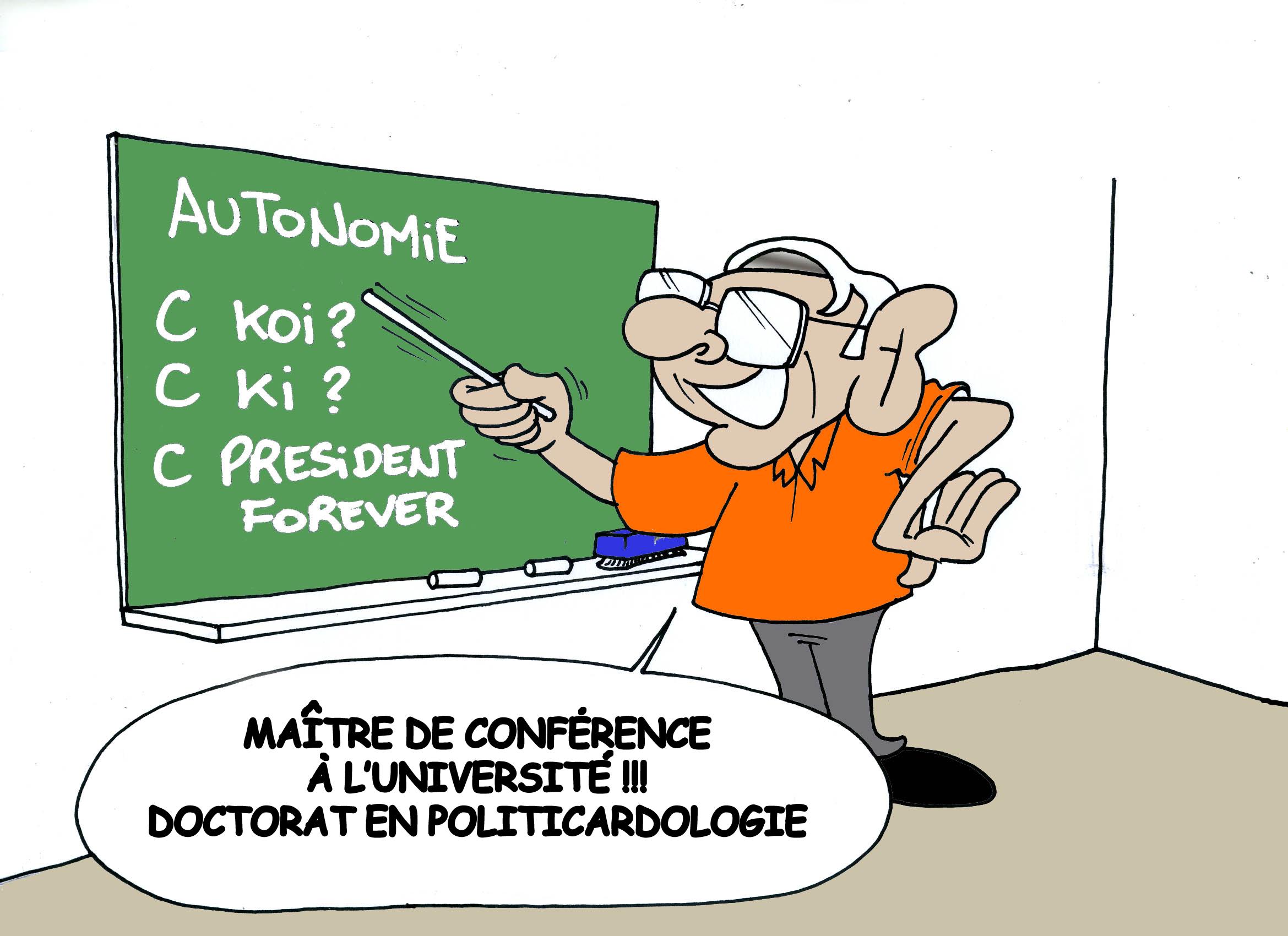 """""""Le professeur Flosse nous explique la politique"""" par Munoz"""