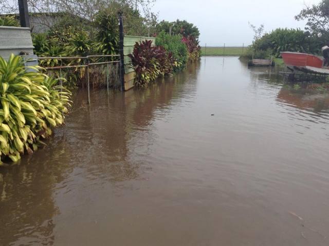 À Haramea, plusieurs maisons ont été inondées.