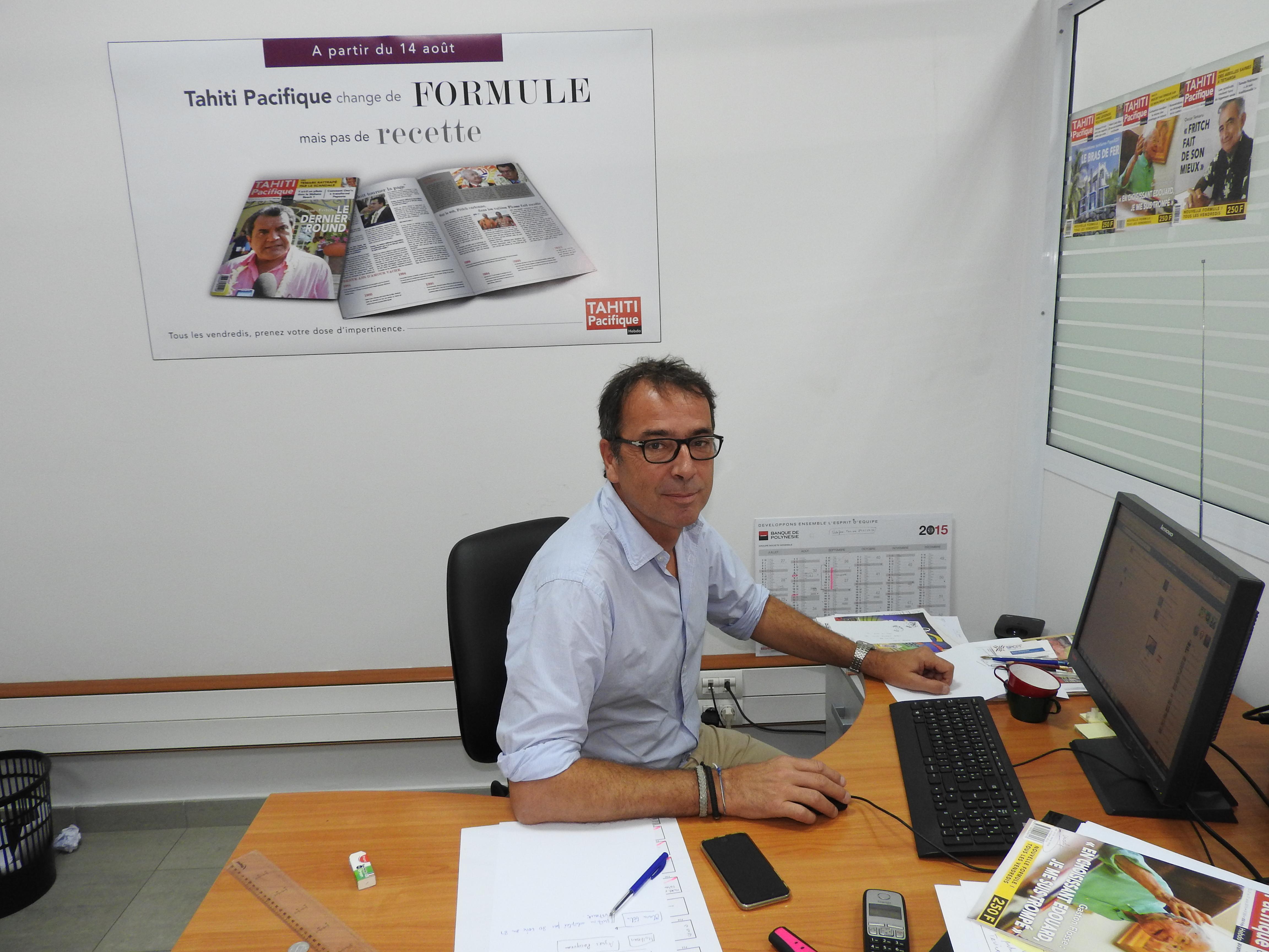 Bertrand Parent, le rédacteur en chef de Tahiti Pacifique Hebdo