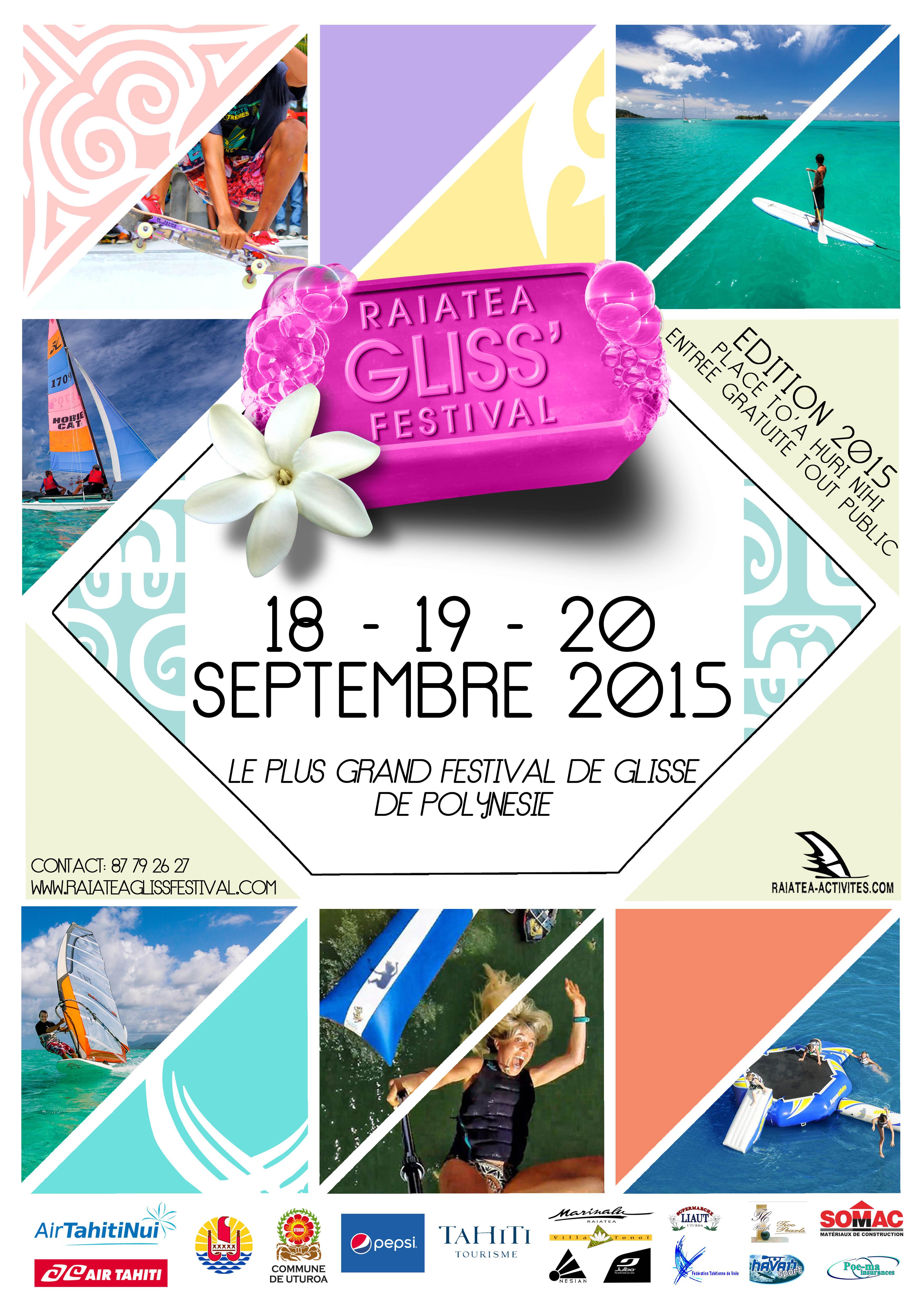 Deuxième édition du Raiatea Gliss festival