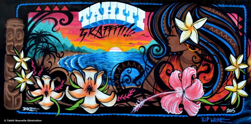 L'oeuvre de l'Anglais Inkie (crédit photo : Tahiti Nouvelle Génération)