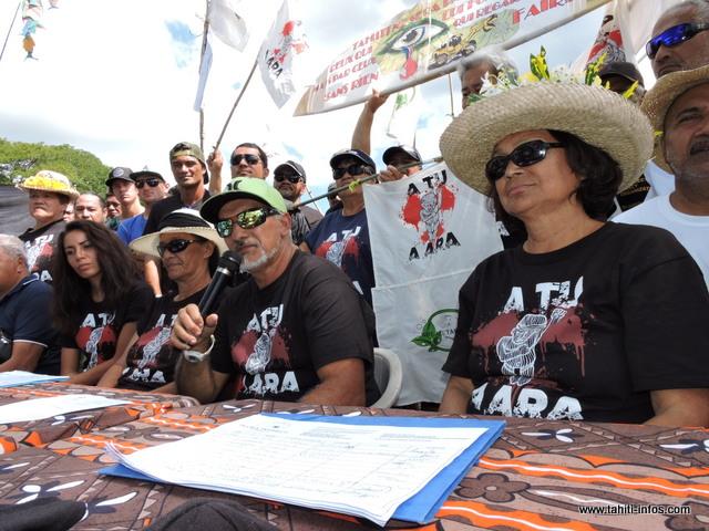 """Le syndicat """"No Te Aru Tai Mareva"""" ne veut plus discuter avec les ministres de l'équipement et de l'environnement. Ils veulent désormais, rencontrer le vice-président et le porte-parole du gouvernement."""