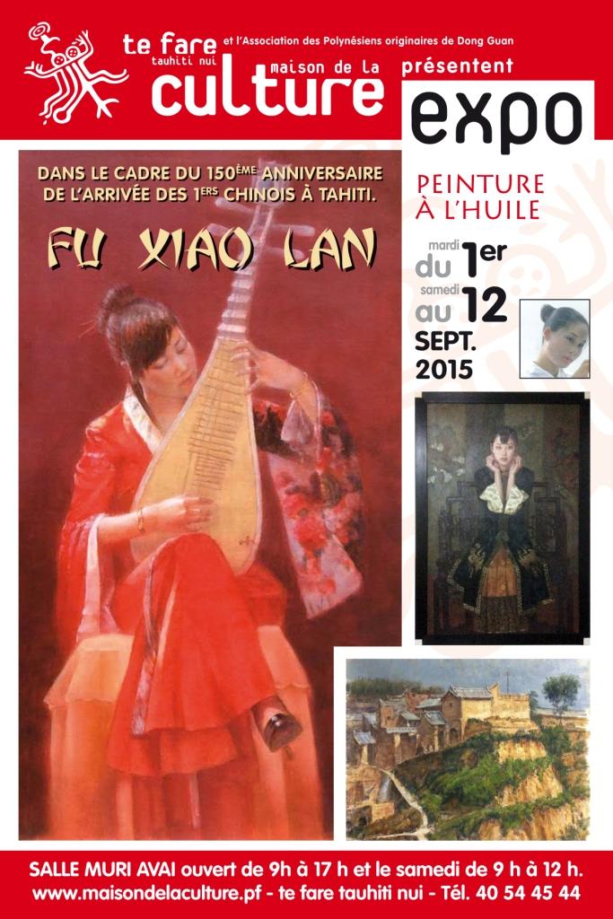 """Cette semaine, l'artiste chinoise Fu Xiao Lan peint """"en live"""" à la salle Muriavai"""