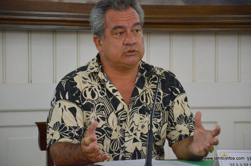 Heremoana Maamaatuaiahutapu, le ministre de l'Environement.