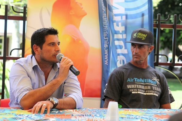 Torea Colas et Stéphan Lambert lors de la conférence de presse ce lundi