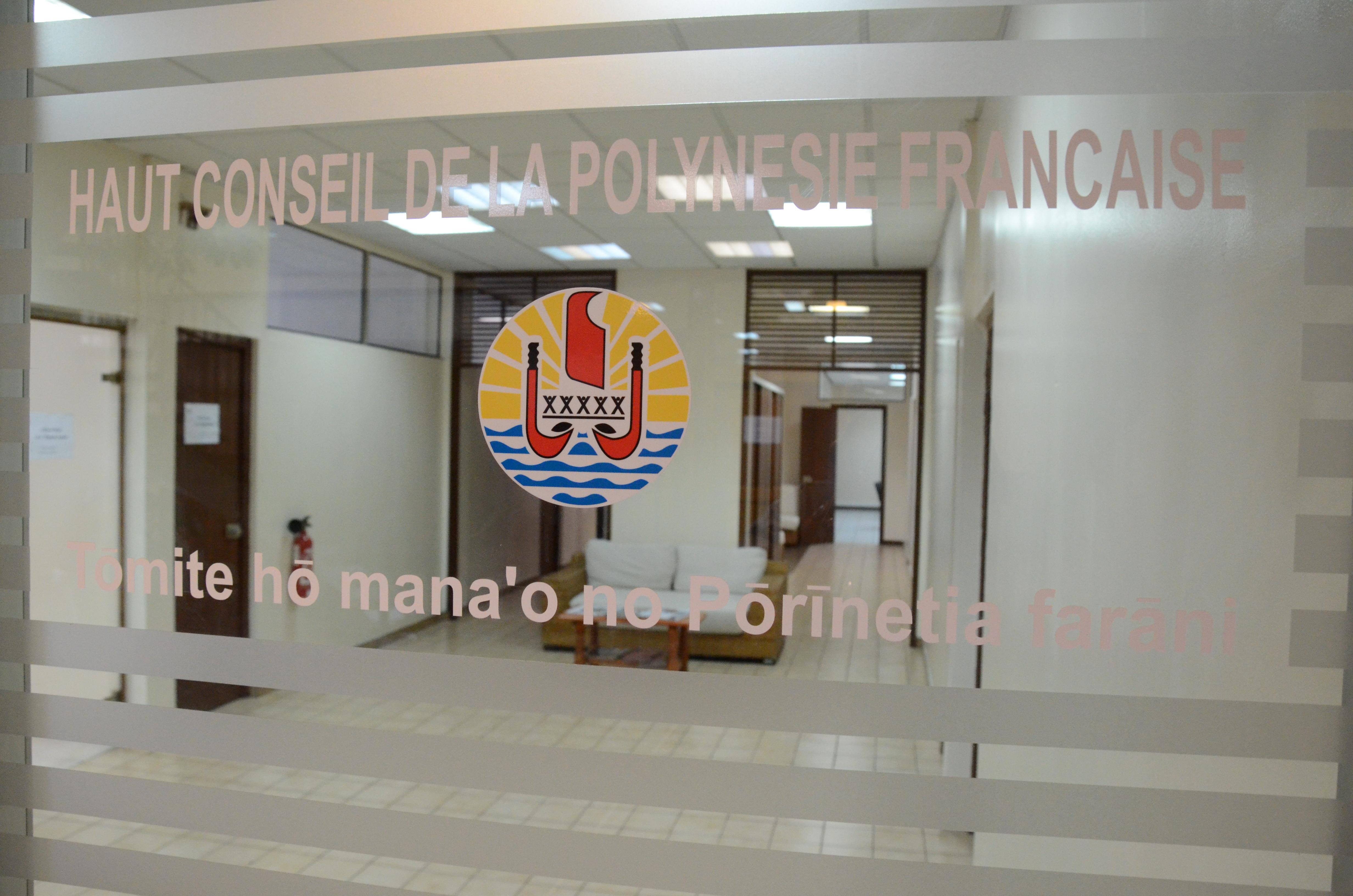 L'assemblée dissout le Haut conseil de la Polynésie française