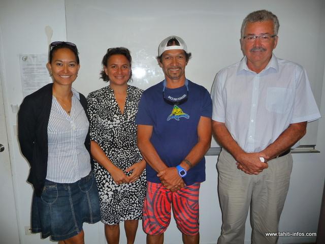 Joseph Maillot formait trois employés communaux au CGF, ce mardi matin. La formation liée à l'amiante se terminera ce vendredi.