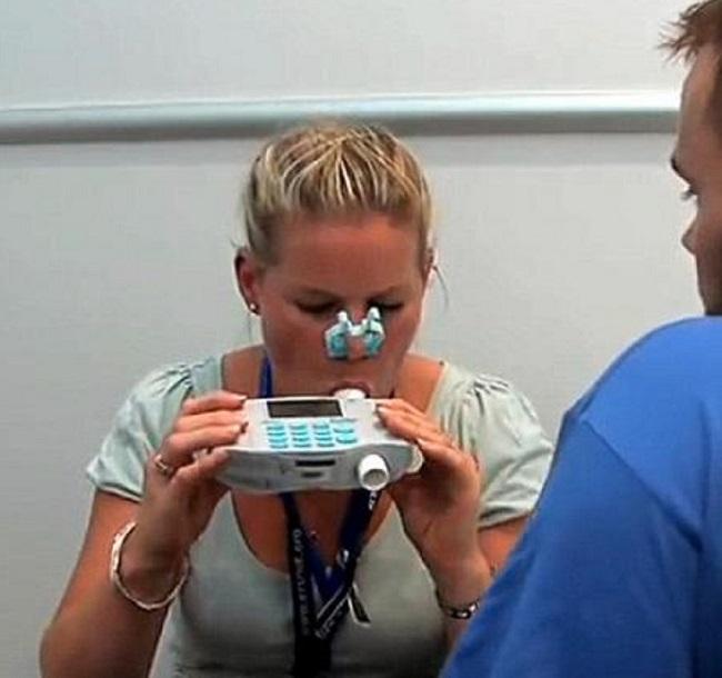 Le test de souffle est rapide à effectuer.