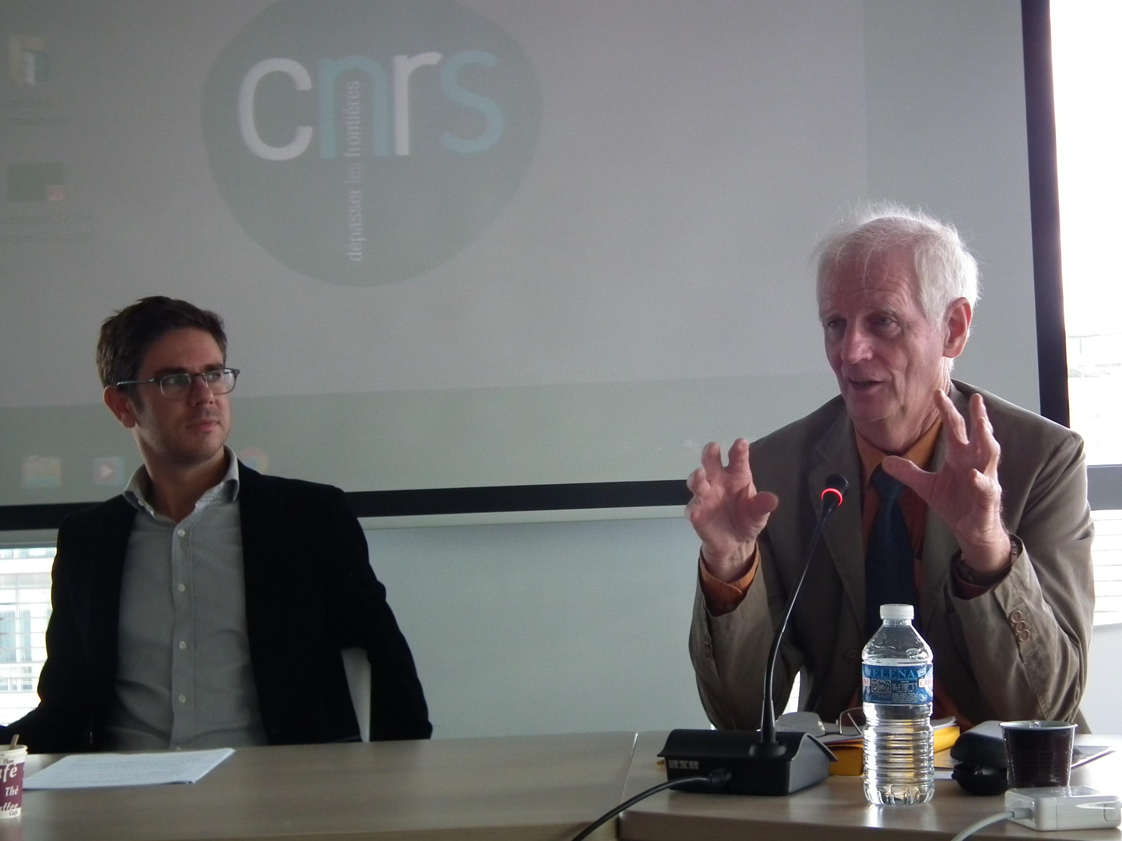 Les chercheurs Jean-Marc Regnault et Jean-François Sabouret ont animé ce colloque donné au CNRS en début de semaine à Paris