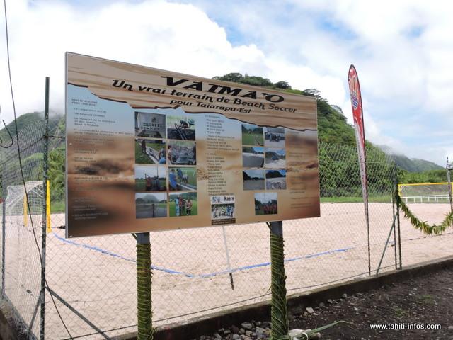 """Baptisé """"Vaima'o"""", ce nouveau terrain pourra servir aux nombreuses associations sportives et à la population"""