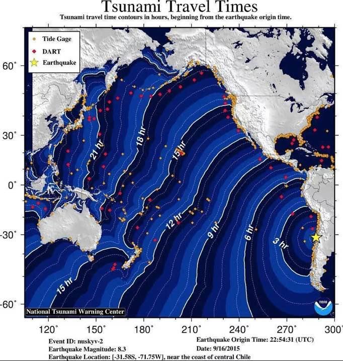 Tsunami : vigilance en Polynésie après un violent séisme au Chili