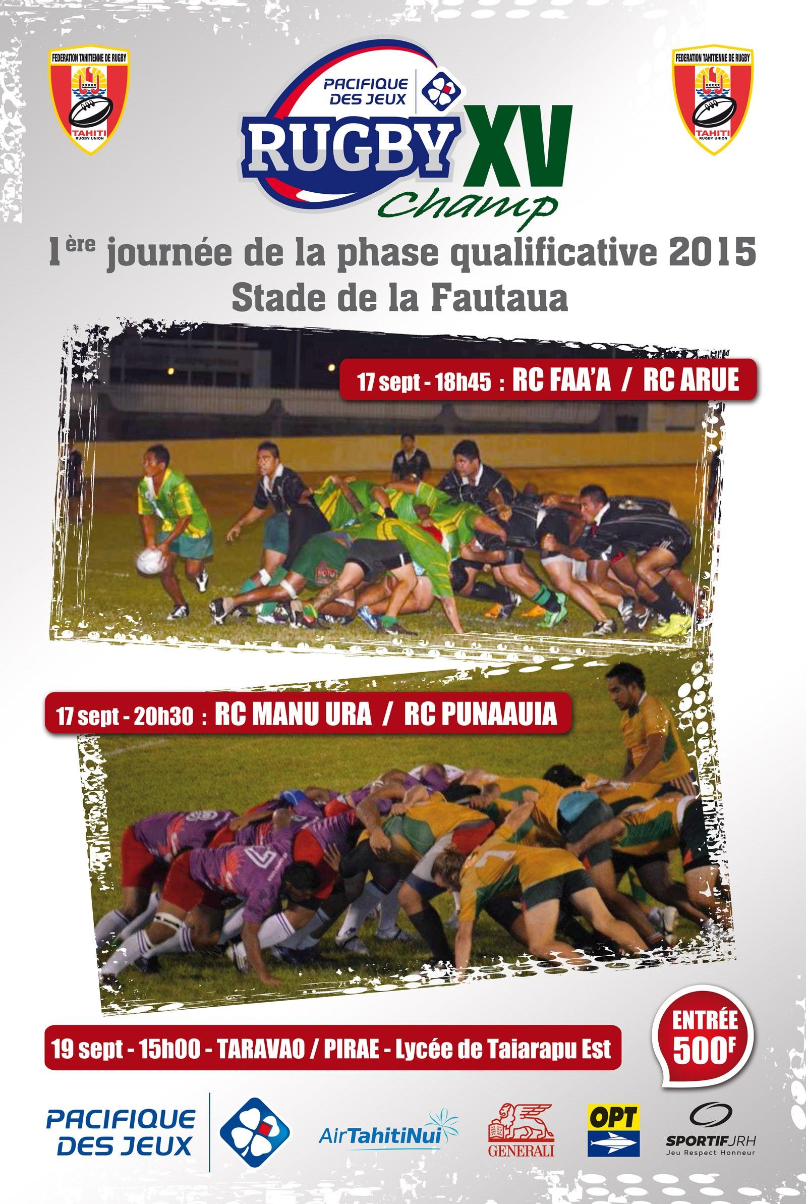 Vivez le début de la coupe du monde de rugby à la Fautaua avec la PDJ