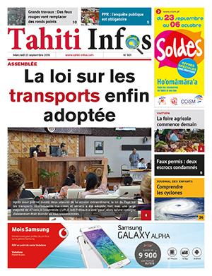 TAHITI INFOS N°501 du 23 septembre 2015