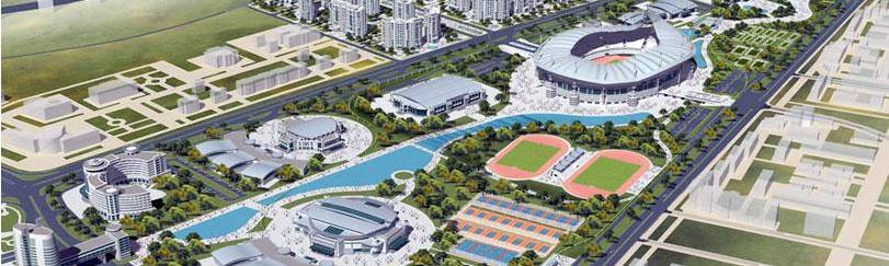 Le village olympique d'Ashgabat