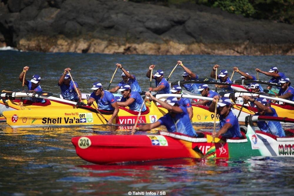 Matairea de Huahine à la lutte avec Shell Va'a