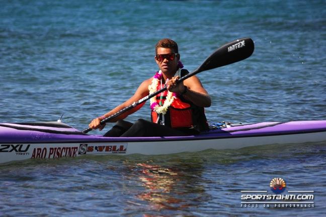 Kayak – Championnat de Polynésie : Hiromana Florès, meilleur tahitien.