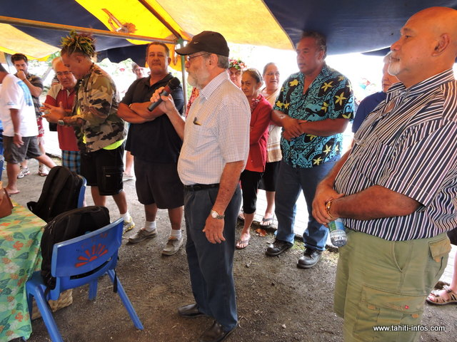 Pour une première à Hitiaa, le maire délégué, Jacqui Drollet a exprimé sa fierté que cet évènement se déroule dans sa commune. Il a d'ailleurs souhaité tous ses encouragements aux participantes.