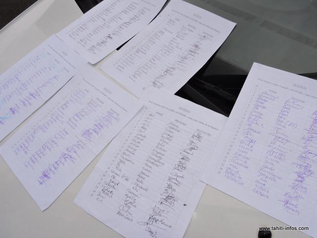 """Près de 1 500 signatures sont répertoriées sur la pétition mises en place, il y a quelques semaines, par le collectif citoyen """"Te Aru o Teura Vahine""""."""