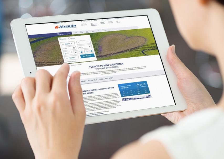 Le nouveau site d'Aircalin s'adapte aux nouveaux usages du Web, en particulier le mobile.