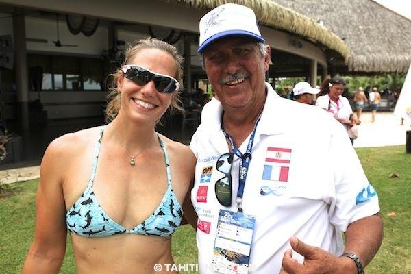 Charles Villierme avec la championne olympique Krisztinba Zur-Fazekas
