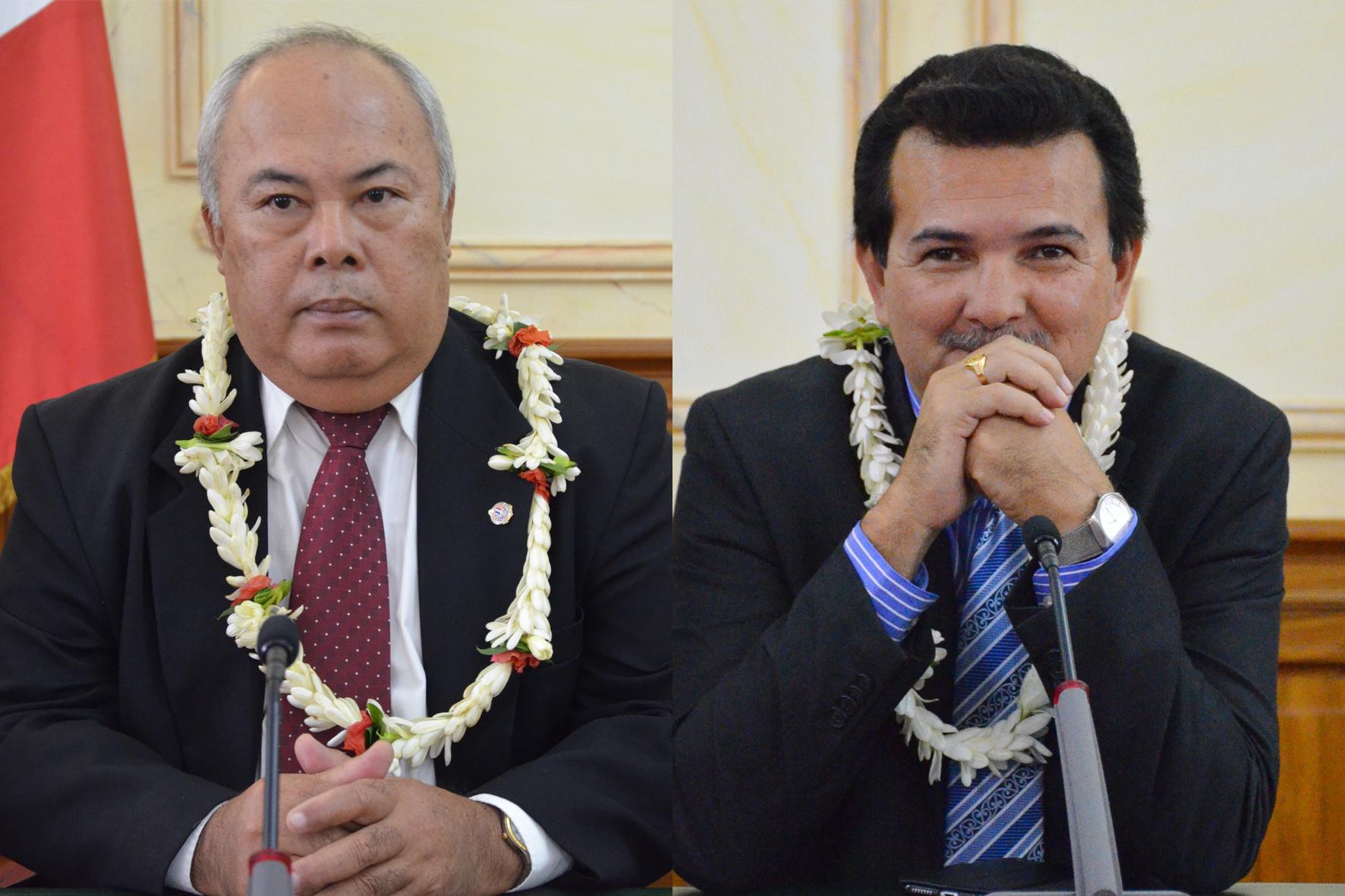 Frédéric Riveta et René Temeharo pourraient annoncer jeudi leur démission du gouvernement Fritch et leur retour sur les bancs de l'assemblée.