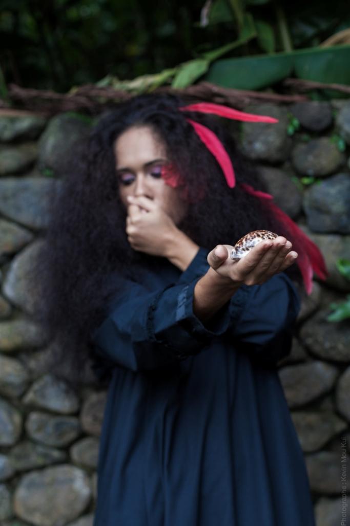 Le coquillage, symbole d'une certaine époque où les élèves étaient punis s'ils parlaient tahitien.