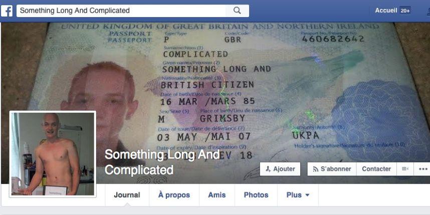 """Un Britannique nommé légalement """"Quelque Chose de Long et Compliqué"""" bloqué par Facebook"""
