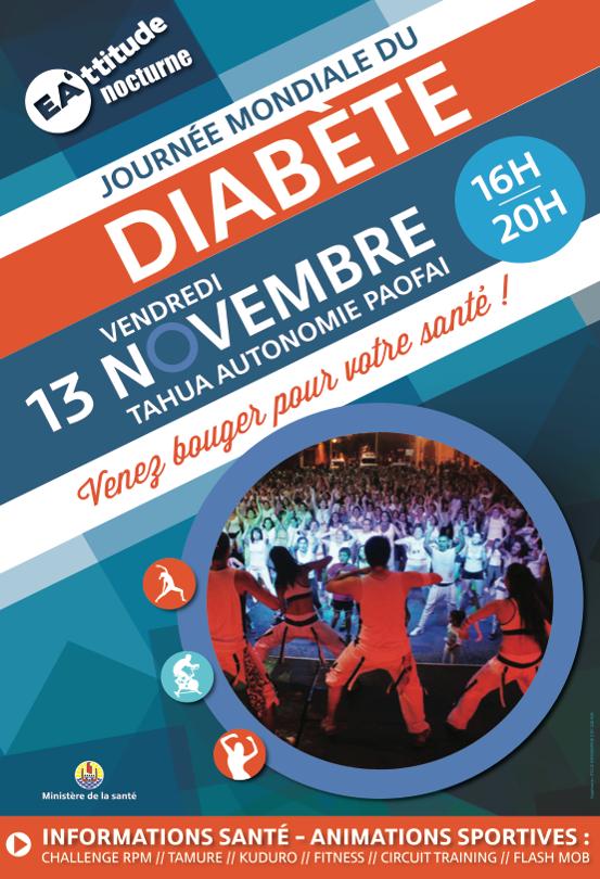"""""""Ea'ttitude Nocturne"""" : Journée mondiale du diabète à Paofai"""