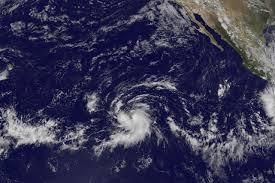 L'ouragan Olaf en formation dans le Pacifique au large du Mexique