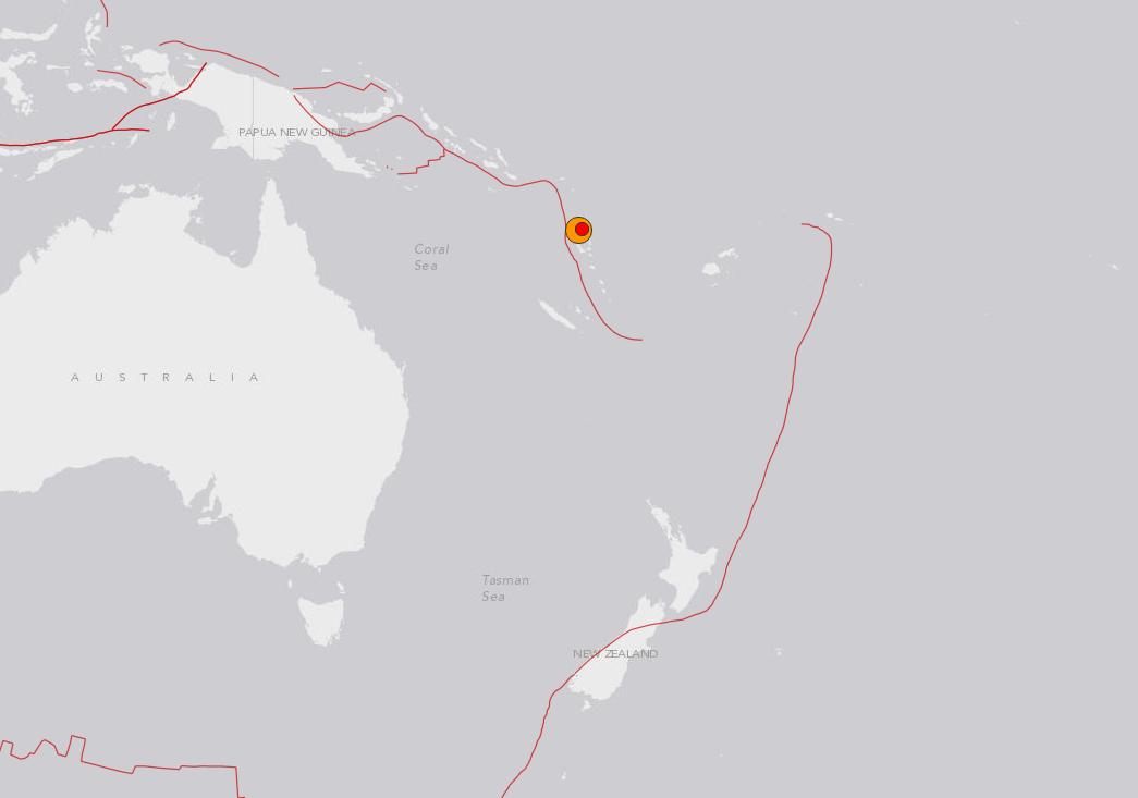 Séisme de magnitude 7,3 au large du Vanuatu