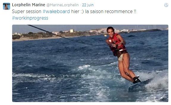 En juin 2014, une session de wakeboard à Tahiti qui avait terminé aux urgences..du Taaone