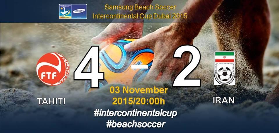 Beach soccer – Coupe Intercontinentale : Les Tiki Toa, au top contre l'Iran, gagnent 4 à 2.