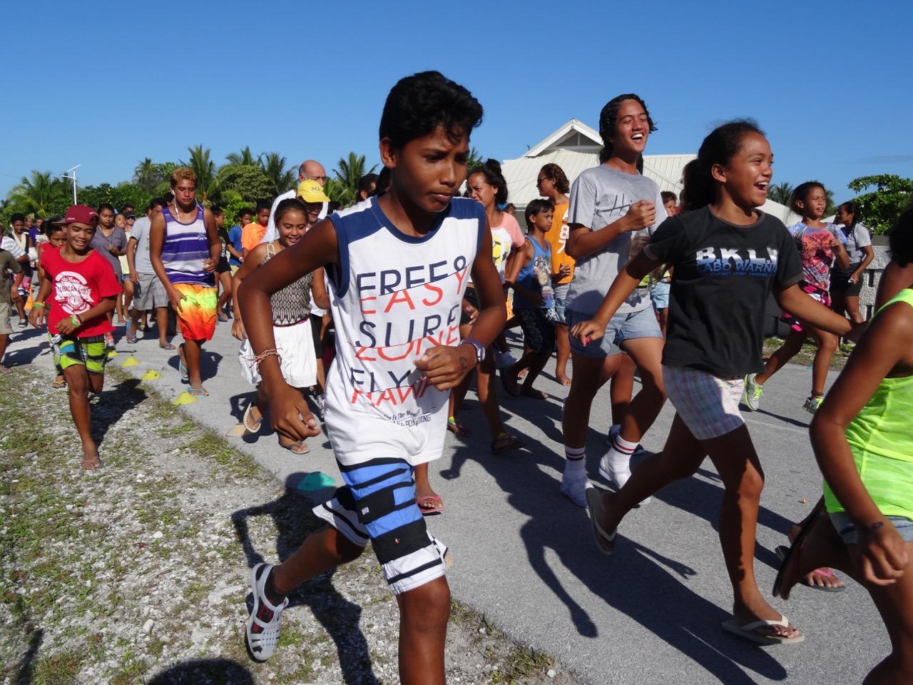 Chaque participant avait 5 kms à parcourir entre le collège et Prosper