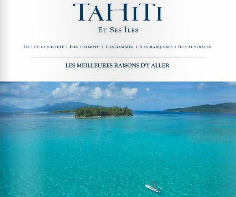Le visuel de la campagne de Tahiti Tourisme actuellement en diffusion en région parisienne.