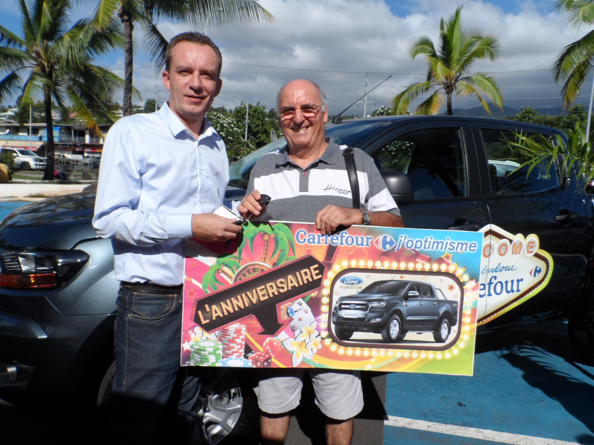 Anniversaire Carrefour: Gérard Nicolas de Arue a remporté la Ford Ranger