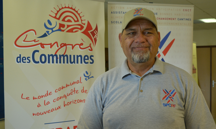 Cyril Tetuanui, le président du Syndicat pour la promotion des communes de Polynésie française (ici lors du congrès des communes du SPCPF mi septembre dernier) est à Paris avec une délégation de tavana, à partir de ce lundi et jusqu'au 20 novembre prochain.