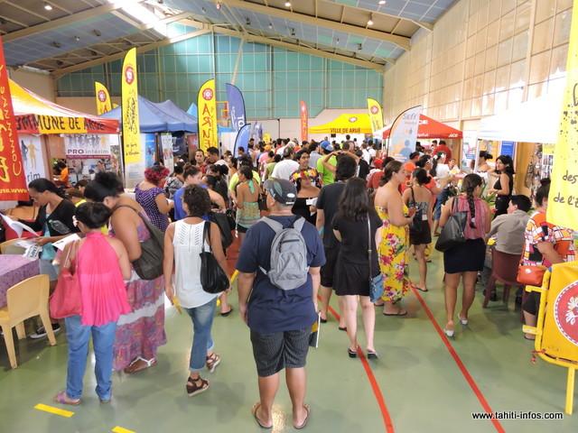 Lors du dernier forum de l'emploi à Arue, ils étaient plusieurs centaines de personnes à avoir fait le déplacement