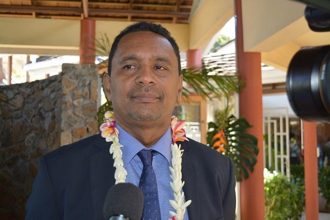 Le ministre du logement aux Assises de l'Habitat des Outre-mer à Punaauia ce lundi matin.