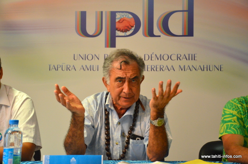 """Oscar Temaru : """"Je ne suis pas d'accord pour demander à l'Etat de nous rendre ce qui nous appartient"""""""