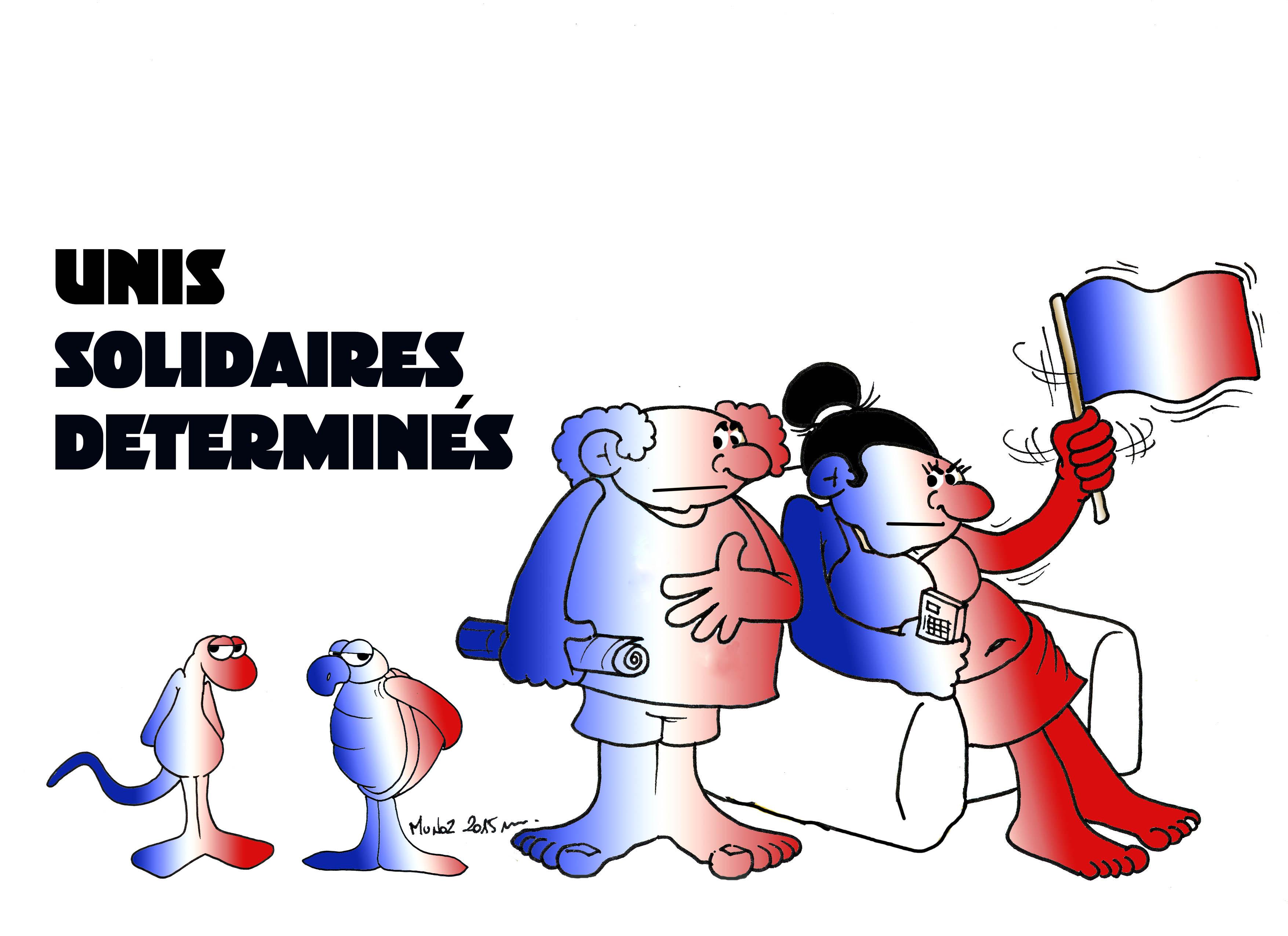 """""""Soutien à la France"""" par Munoz"""