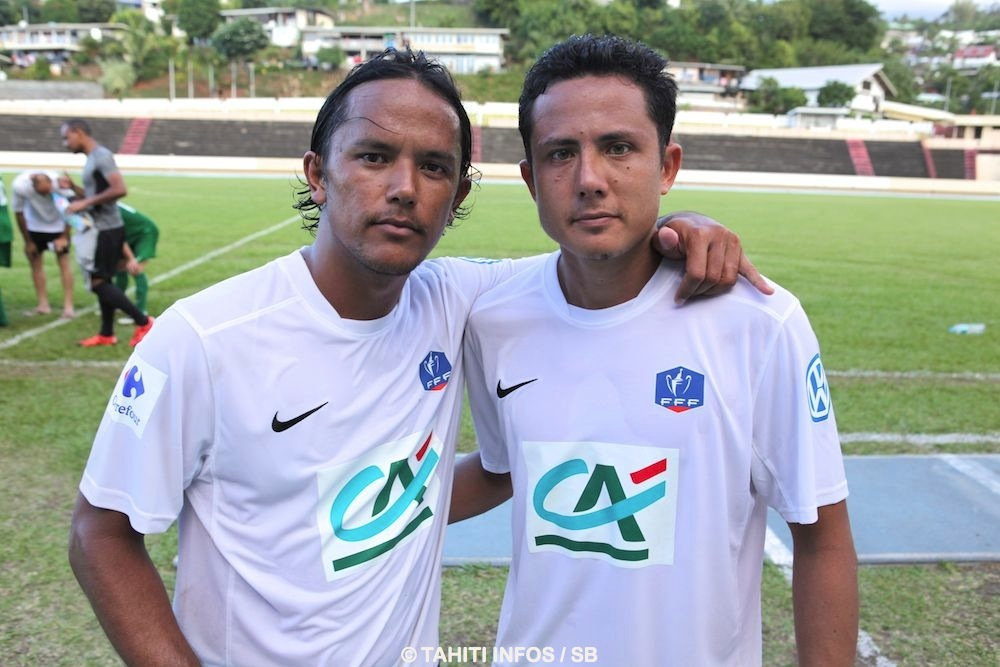 Marama Vahirua avec Raimana Li Fung Kuee, véritable homme du match