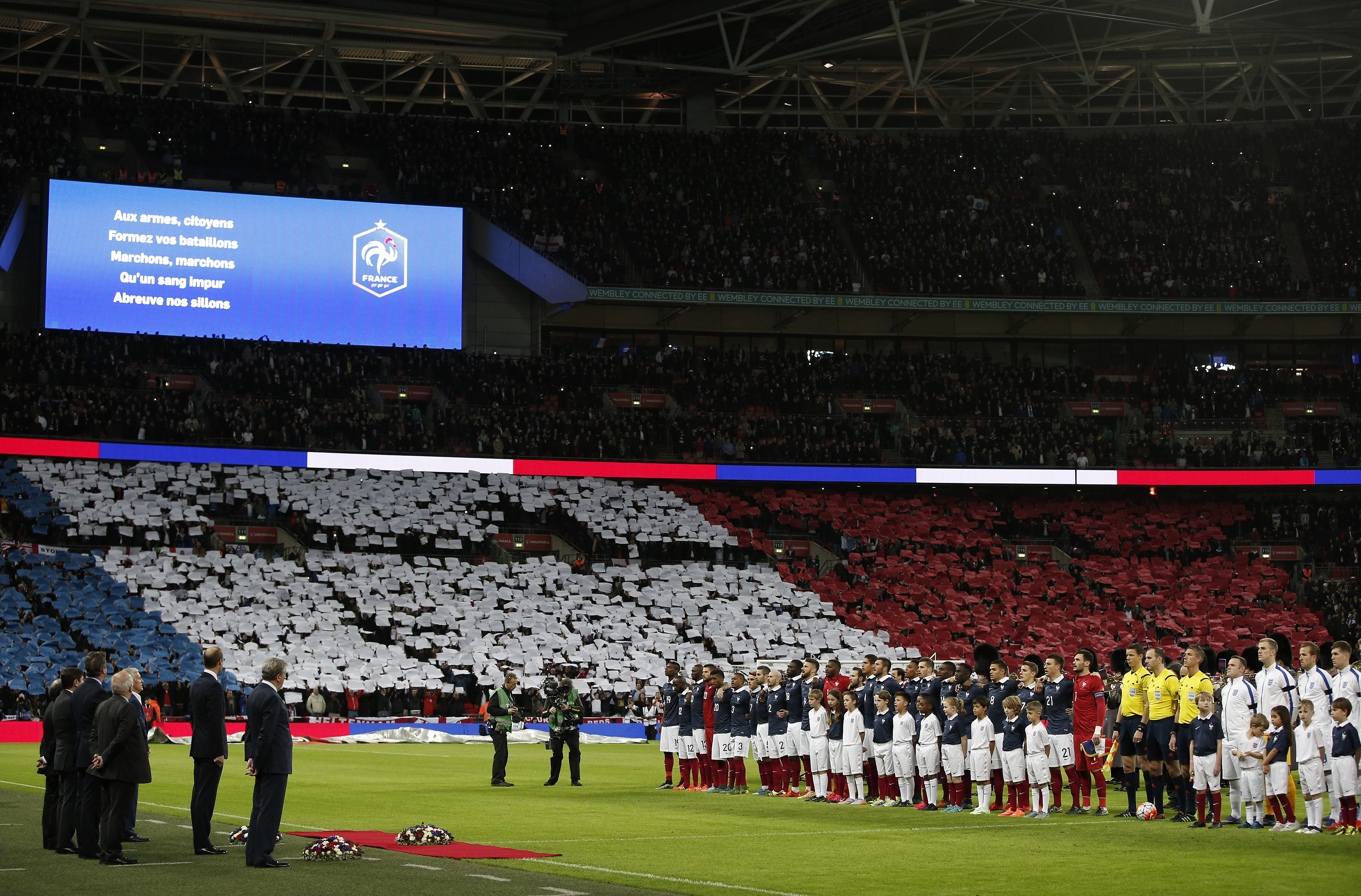 Angleterre-France: et la Marseillaise submergea Wembley