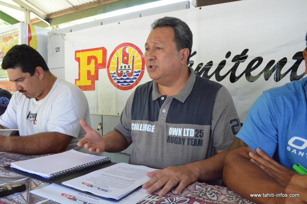 Karl Manutahi, le délégué régional du syndicat FO Pénitentiaire Polynésie française.