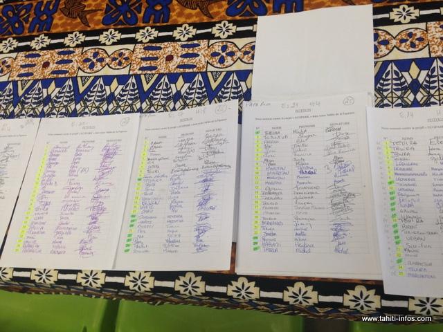 3 155 personnes de Papenoo auraient signé la pétition du collectif